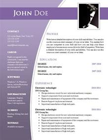 Resume Template Document by Cv Templates For Word Doc 632 638 Free Cv Template