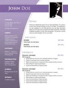 Word Document Resume Format Cv Templates For Word Doc 632 638 Freecvtemplate Org