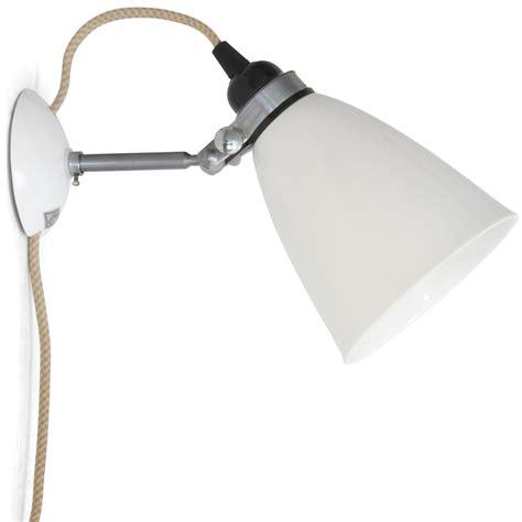wandleuchte mit schalter und kabel verstellbare bone china wandleuchte hector casa lumi