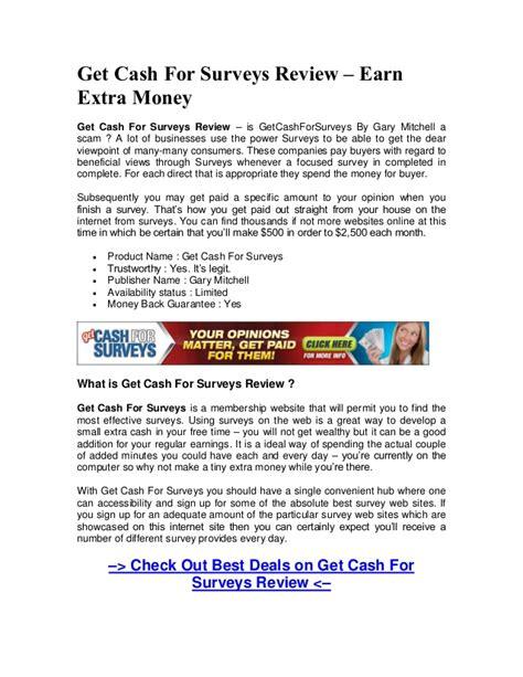 How To Get Money For Surveys - download get cash for surveys review