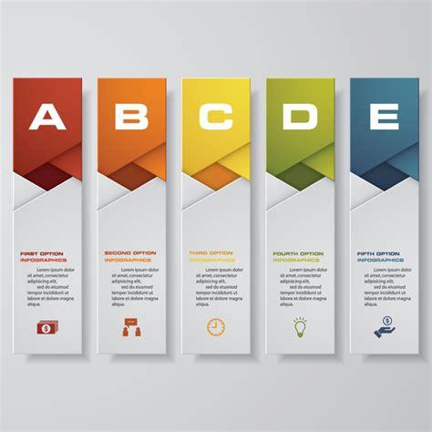 vertical layout web design vertical banner infgraphic paper vector 03 vector banner