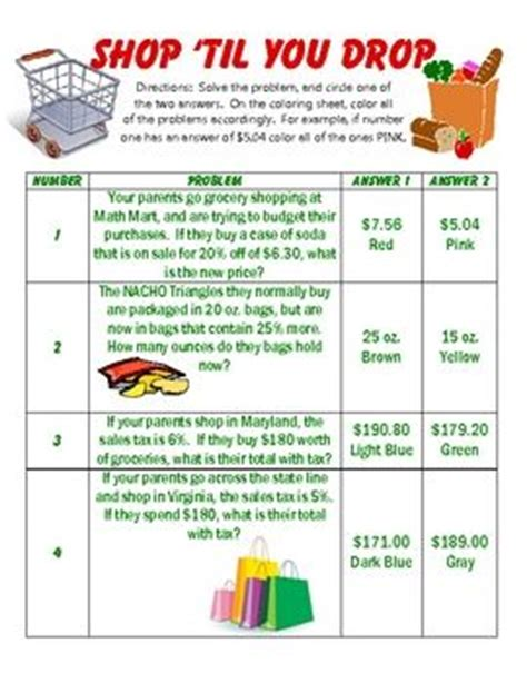 Finding Sale Price Worksheets