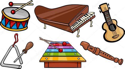 imagenes musicales animadas objetos musicales ilustraci 243 n conjunto de dibujos animados