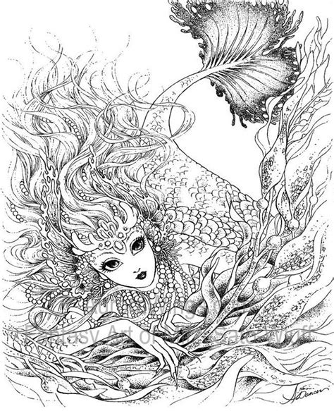 mermaids grayscale coloring book coloring books for adults books 80 best images about mermaids on legends