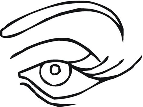eye coloring pages printable coloring pages