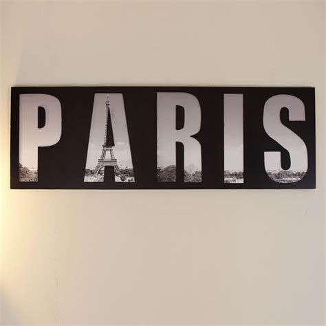 Paris Wooden Wall Art and Print   Exclusive Wall Art