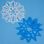 Make Fancy Paper Snowflakes - easy way to make paper snowflakes friday