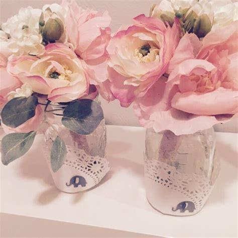 diy baby shower flower centerpieces in jars