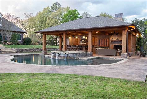 outdoor pool house designs landscape design outdoor solutions jackson ms