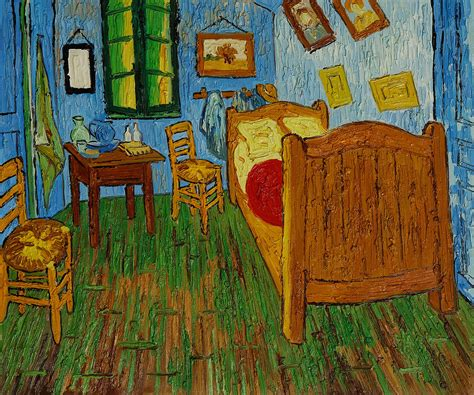 the bedroom van gogh creating me out the place i write stuff about my three