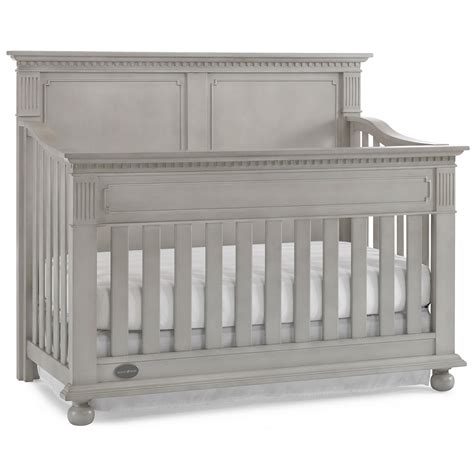 Grey Convertible Crib Dolce Babi Naples Panel Convertible Crib In Grey Satin