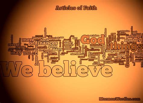 faith the articles of faith wordle