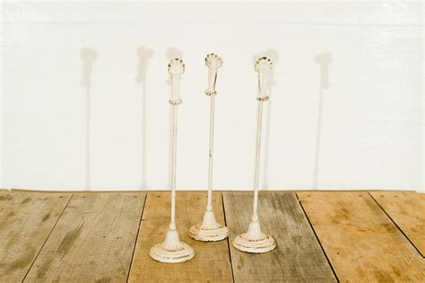 vintage table number holders distressed pedestal table number holders vintage rentals ct
