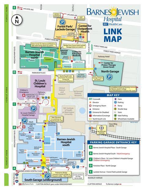 Barnes Hospital Map cus maps patients visitors barnes hospital