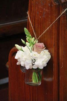 flower design st annes white green flowers church pew floral arrangement by
