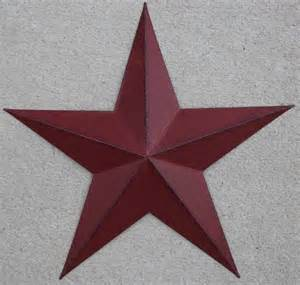 Country Star Decorations Home New Americana Metal Star 24 Quot Country Wall Decor Rustic Red