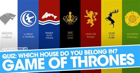 quiz which of thrones house do you belong in