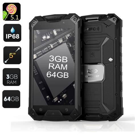 rugged android phone wholesale conquest s6 pro 4g rugged smartphone from china