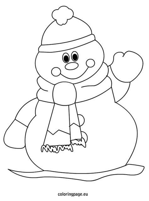 simple snowman coloring page snowman therapy groups pinterest
