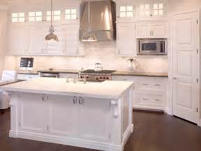 small white kitchen with steel hood white marble counters design ideas