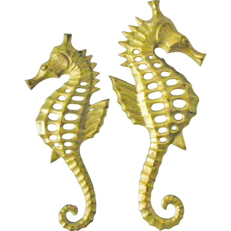 Seahorse Wall Decor by Pair Of Brass Seahorse Wall Hanging Decor Sea