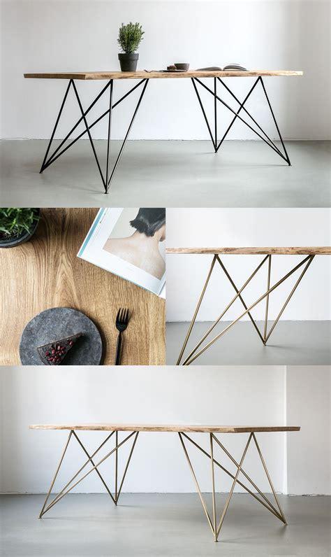 gestell stahl nutsandwoods oak table slim tisch aus eichenholz mit