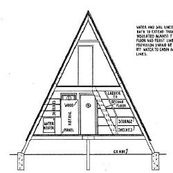 free a frame cabin plans a frame house plans a frame floor plans