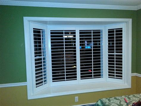 window wooden shutters interior bay window and trim myideasbedroom