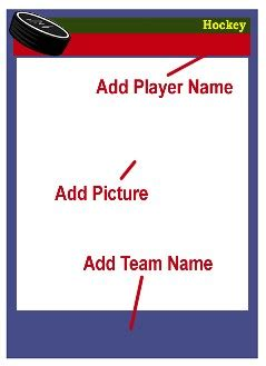 hockey player card template hockey card templates free blank printable customize
