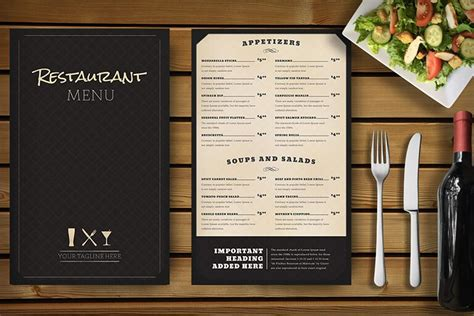 design menu photoshop 30 food drink menu templates design shack