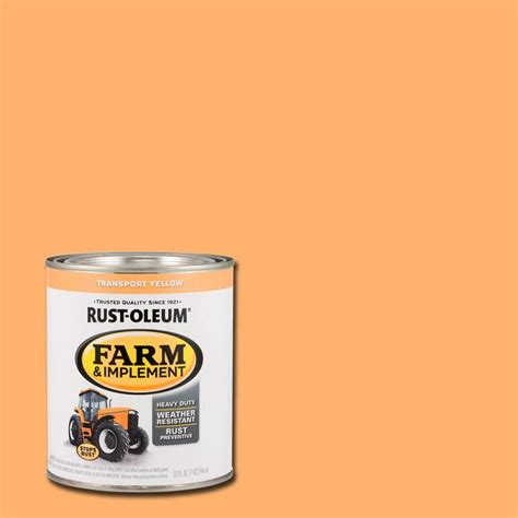 rust oleum 1 qt farm and implement transport yellow paint of 2 280164 the home depot