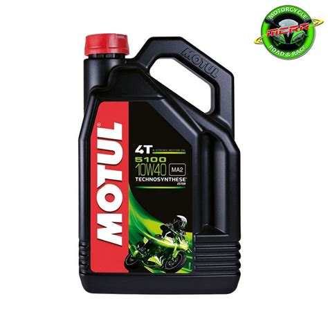 Suzuki Motorcycle 10w40 Motul 5100 10w40 Ester Semi Synthetic 5 Litres Motorcycle