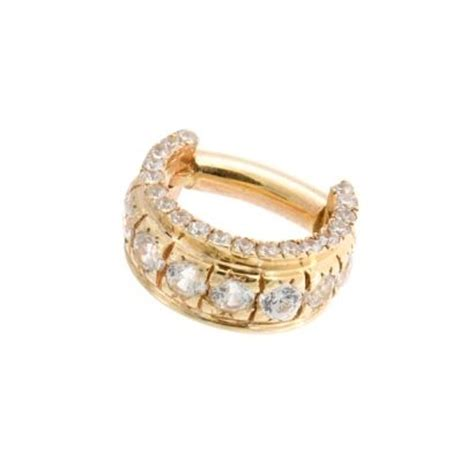 Decorative Septum Jewelry by Bvla Septum Tiara Monaco Edition 36 0070 Yellow Gold