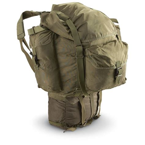 Army Backpack 3 In 2 used austrian 3 pc rucksack olive drab