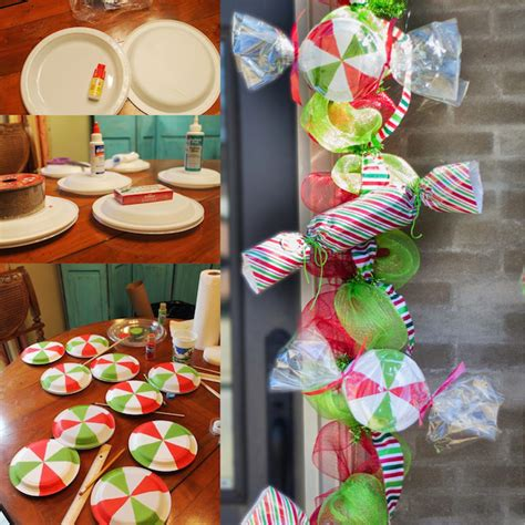 diy christmas candy mint garland homemade crafts and a