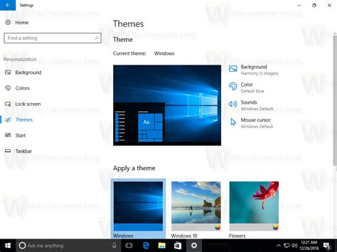 themes com appearance change theme and appearance in windows 10 creators update