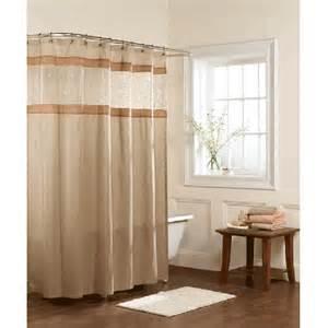 buena vista beige fabric shower curtain bedbathhome