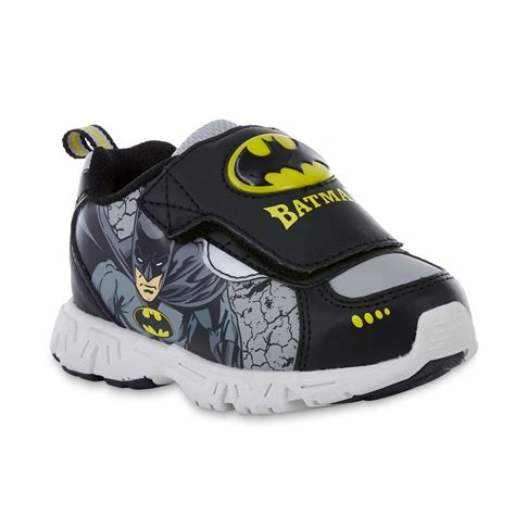 batman sneakers for dc comics toddler boys batman black yellow light up shoe