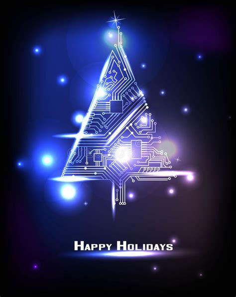 digital christmas tree hi tech tree stock vector image of digital 48032949