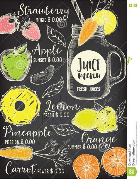 Restaurant Cafe Menu Template Design Stock Vector Illustration Of Diet Brochure 72236608 Juice Menu Template