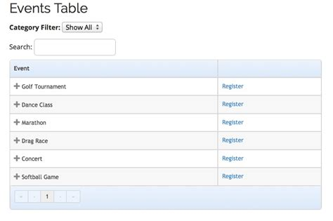 events table view template add on event espresso