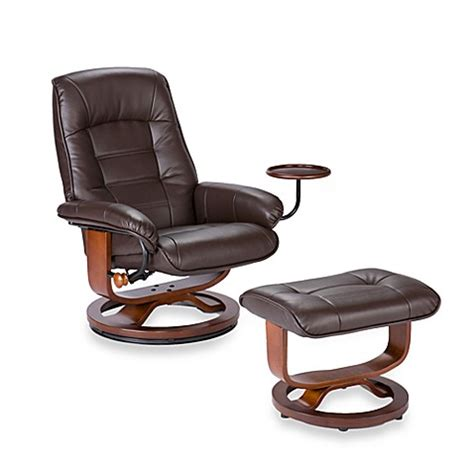 ergonomic leather chair with ottoman southern enterprises ergonomic leather recliner and