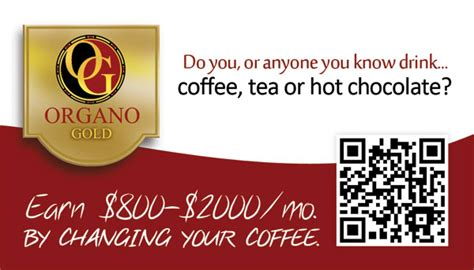Organo Gold Business Card Template by A Schaefer Organo Gold Distributor Business Cards