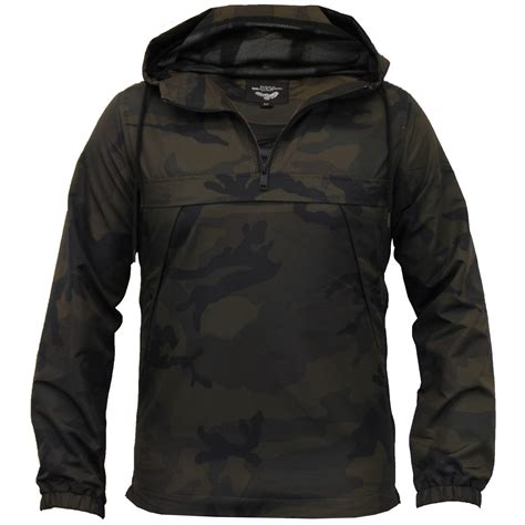 Camouflage Hooded Jacket mens camo jacket brave soul windbreaker the coat