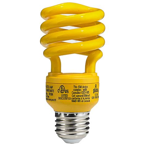 light bulb that doesn t attract bugs 13 w bug light yellow bulb rona