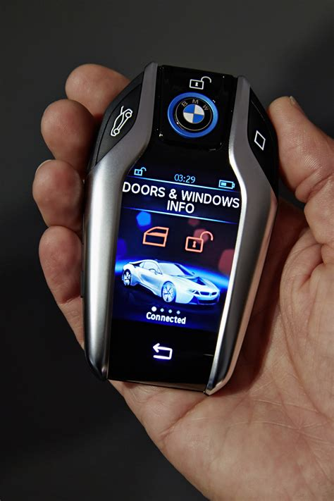 bmw i8 key i8 key fob with 2 2 quot display brought out by bmw at 2015