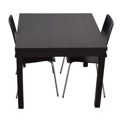 ikea black dining table 70 off ikea ikea three piece dining set in black tables