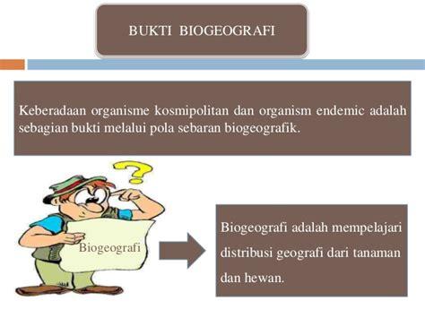 biogeografi adalah bukti bukti petunjuk adanya evolusi