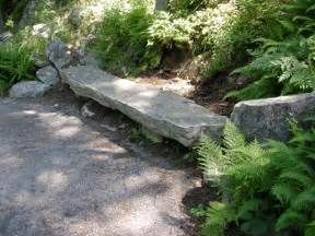 Rock Benches For Garden Rock Garden Seating Carolyn S Shade Gardens