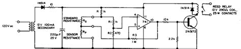 resistor detector circuit electronic circuits projects and circuit diagrams